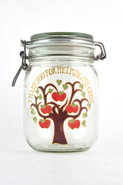 Apple Tree Storage Jar