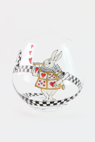 White Rabbit Crystal Tumbler