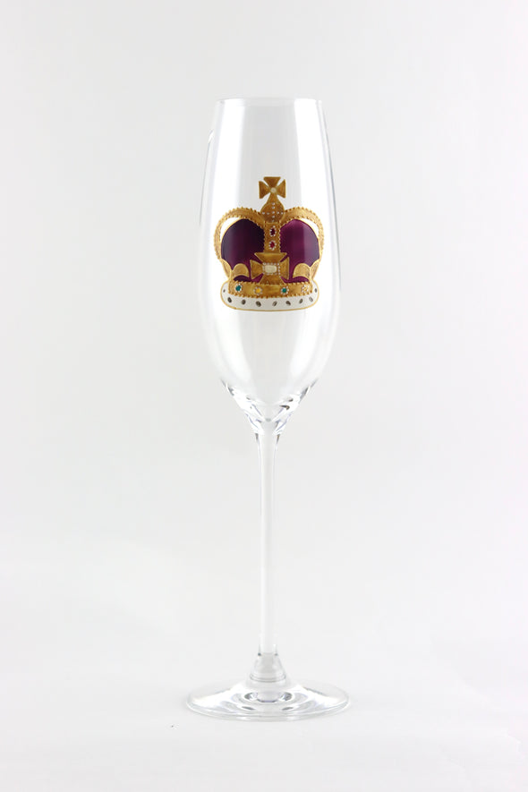 Crown Champagne Flute