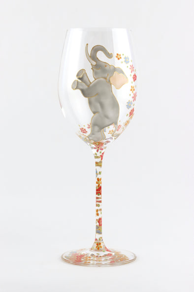 Dancing Elephants Wine Glasses