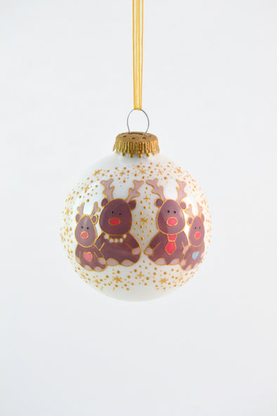 Reindeer Family Bauble