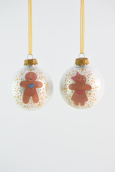 Gingerbread Boy or Girl Bauble