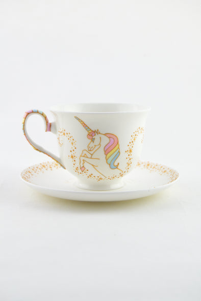 Unicorn Teacup and Saucer