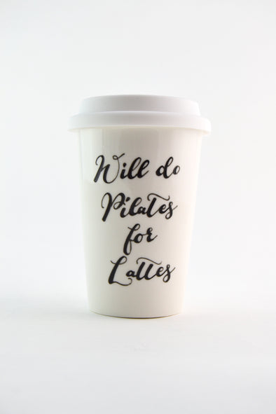 Pilates for Lattes Travel Cup
