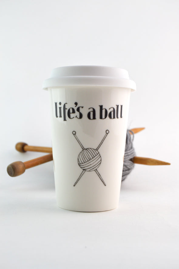 Life's a ball travel cup