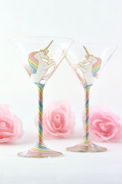 Unicorn Cocktail Glasses