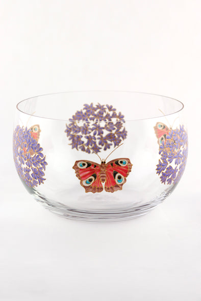 Agapanthus and Peacock Butterfly Bowl