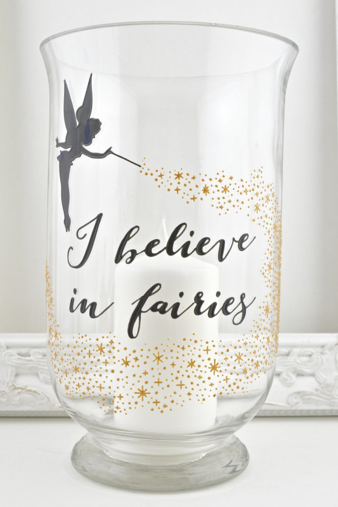 I Believe in Fairies Large Candle Jar