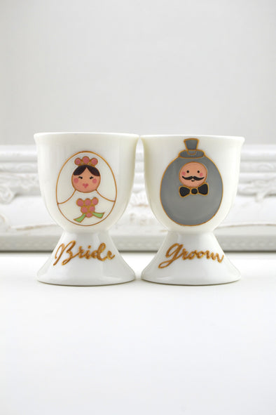 Eggy Bride and Groom egg cups