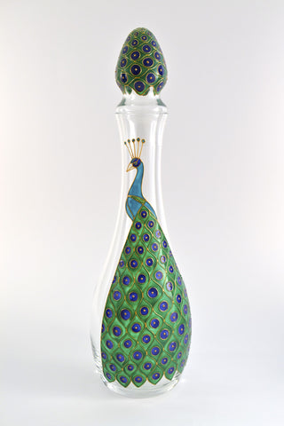 Peacock decanter