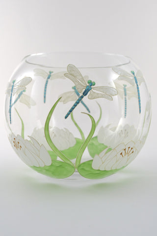 Dragonflies Fishbowl Vase