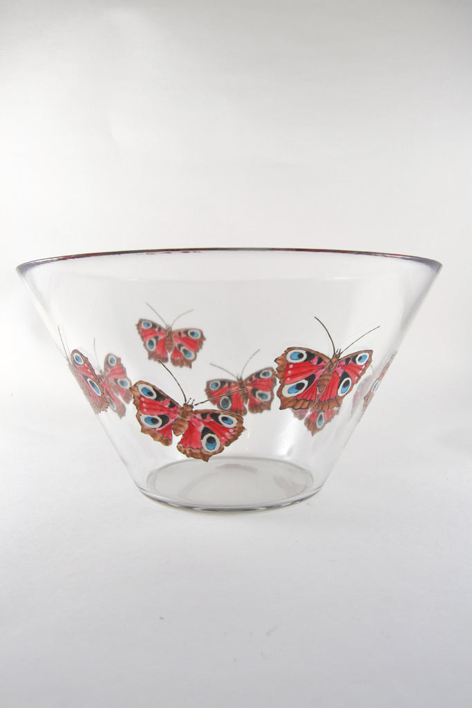 Peacock Butterfly Serving Bowl