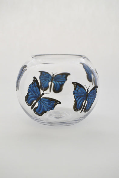 Blue Morpho mini fishbowl