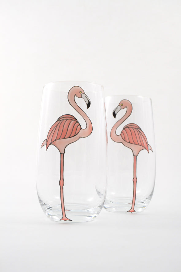 Tall Flamingo Pitcher