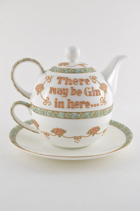 There May Be Gin... Bone China Tea Set for One