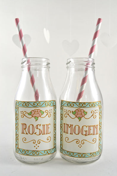 Personalised Mini Milk Bottles