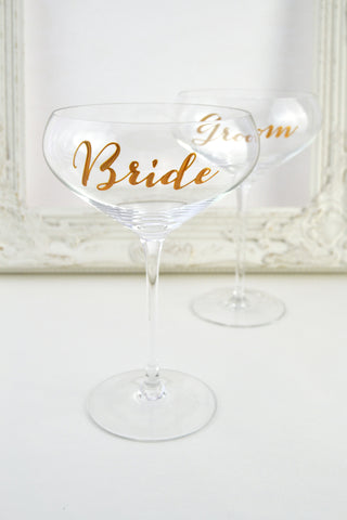 Personalised Champagne Coupe