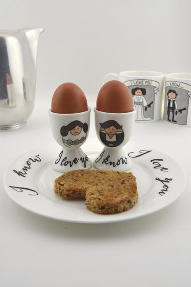 Leia and Han Egg Cups