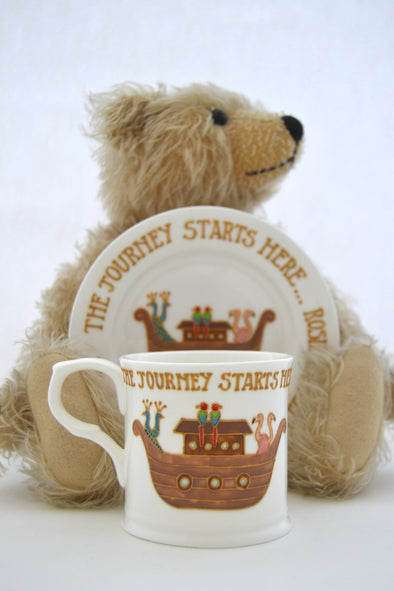 The Journey Starts Here - christening cup