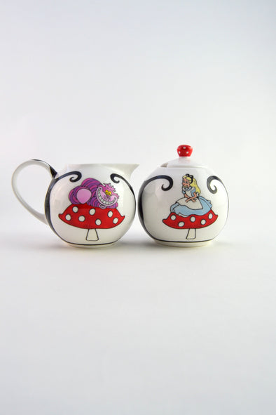 Alice in Wonderland Milk/Sugar Set