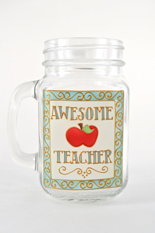 Awesome Teacher Drinking Jar