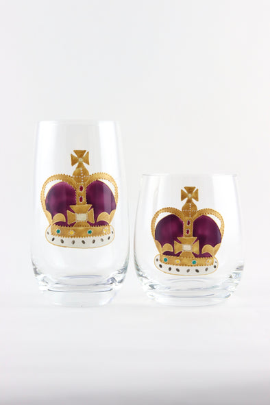 Crown Tumblers (2 sizes)