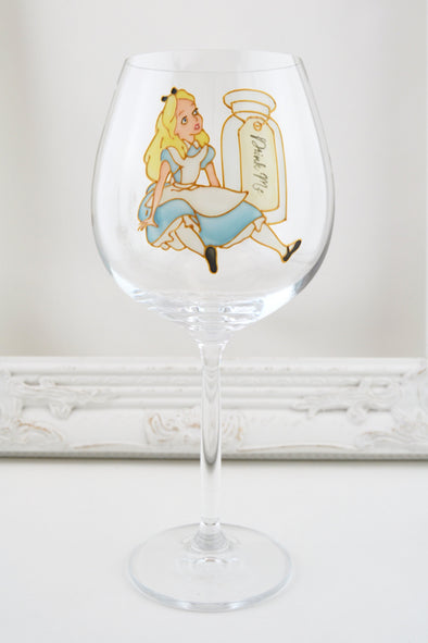 Alice in Wineland Wine Glass - Drink Me