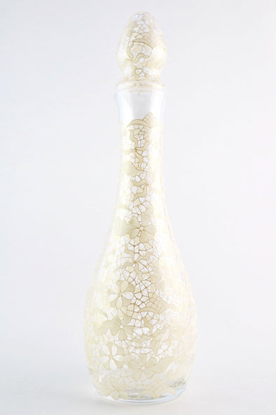 White/Pearl Lace Decanter