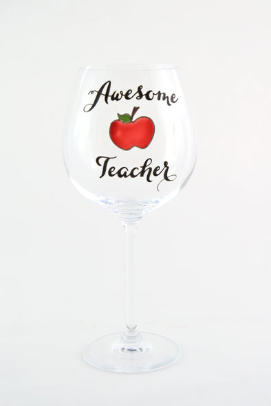 Awesome Teacher Wine Goblet