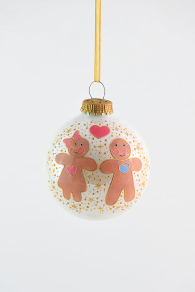 Gingerbread Boy and Girl Bauble
