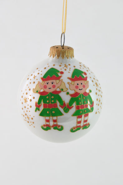 Elf Girl and Boy Bauble