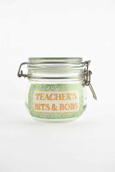 Teacher's Bits and Bobs Jar