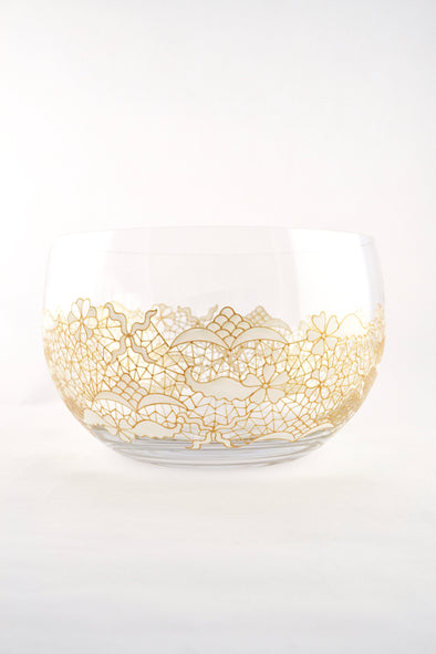 White Lace Serving Bowl