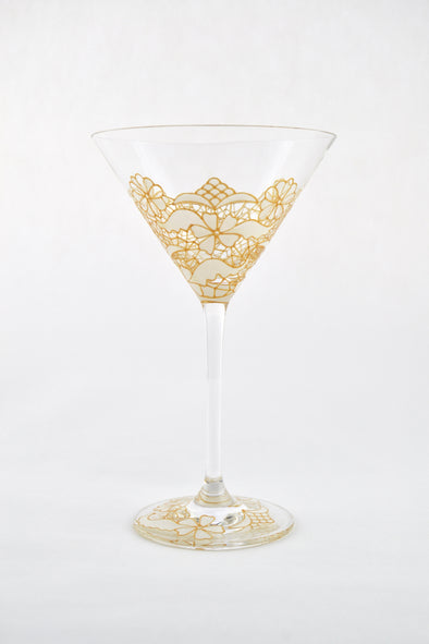 White Lace Cocktail Glass