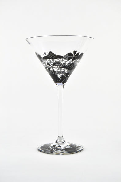 Black Lace Cocktail Glass