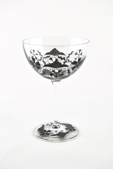 Black Lace Champagne Coupe