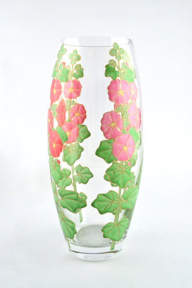 Hollyhocks Vase