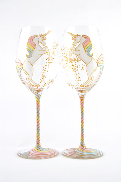Long Tail Unicorn Wine Glass