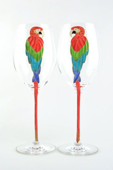 Parrot Wine Glasses