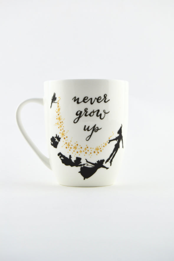Never Grow Up Bone China Mug