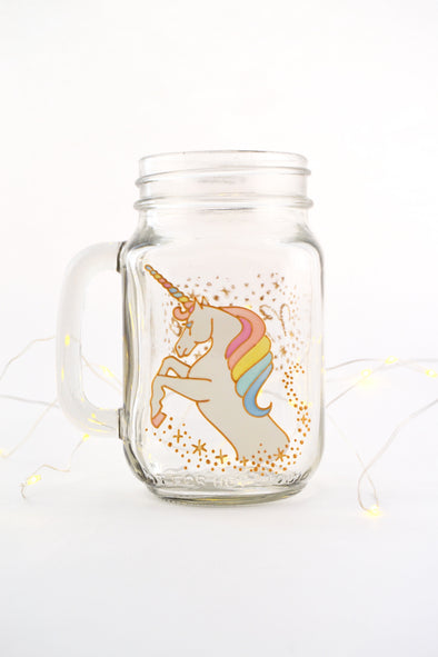 Unicorn Drinking Jar