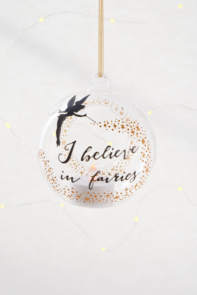 I Believe in Fairies Tealight Bauble