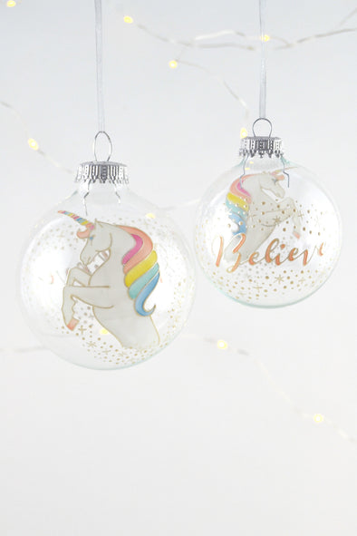 Unicorn Bauble (silver)