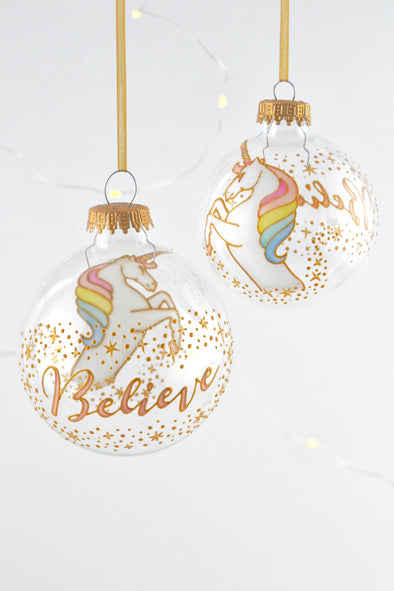 Unicorn Bauble (gold)