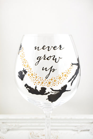 Never Grow Up Wine Goblet