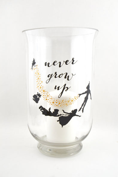 Never Grow Up Large Candle Jar