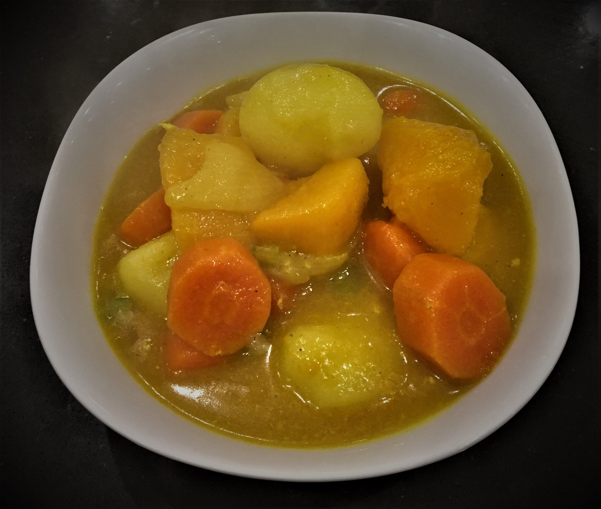 Vi Root Vegetable Curry with Boiled Rice