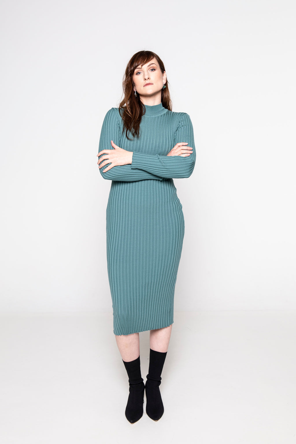 Ribbed Merino Dress