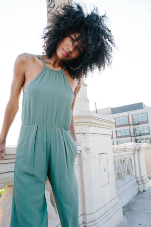 Ann Jumpsuit in Sage