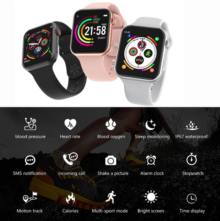 Smartwatch F10, reloj inteligente compatible con android y iPhone